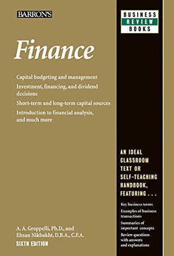 Finance (Barron's Business Review Series)
