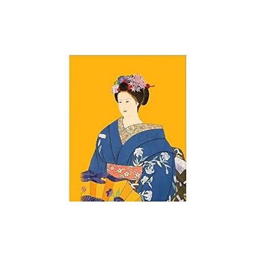 Jigsaw Puzzle 1000 Piece 3D Puzzle Japanese Costume Kimono Beauty Japan Wall Art Picture for Home Decor 75X50Cm ()