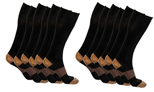 Monogram Inc Unisex Copper-Infused Pain Relief Compression Socks (6)