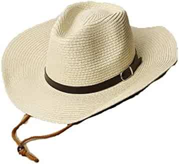 af0acc7d546 Spring Summer Straw Hats Men s Woman s Western Cowboy Hat with Rope Sun  Beach Big-Brimmed