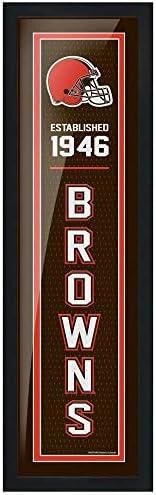 """Cleveland Browns 6"""" x 22"""" Established F"""