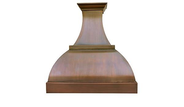 SINDA - Elegante campana de noche con forma de vestido para montar en la pared de cobre macizo con ventilador centrífugo de alto flujo de aire, ventilación de acero inoxidable con forro