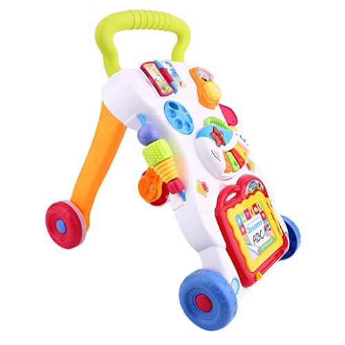 Homgrace Baby - Carrito con tablero de juegos, 2 en 1, diseño con ...