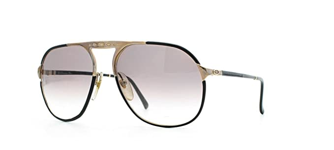 08578c3d390 Image Unavailable. Image not available for. Color  Christian Dior 2504 49  Black Certified Vintage Aviator Sunglasses For Mens