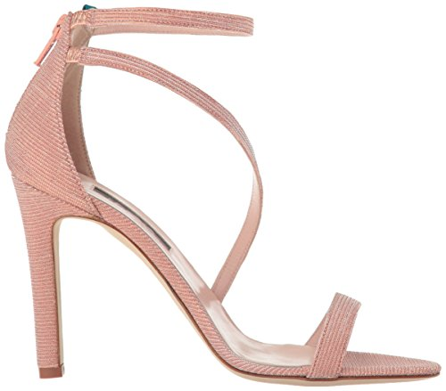 SJP by Sarah Jessica Parker Women's Serpentine Heeled Sandal Blush Fabric sneakernews Pehh5azd