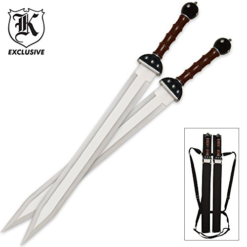 Fantasy Master Gladiator Warrior Twin Sword Set and Sheath