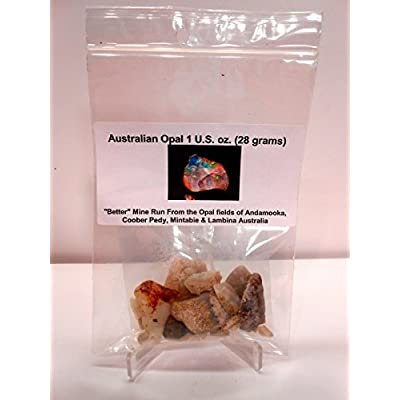 Australian Opal-Better Mine Run 1 oz Imported Direct from Opal Fields of Andamooka, Coober Pedy, Mintabie & Lambina: Toys & Games