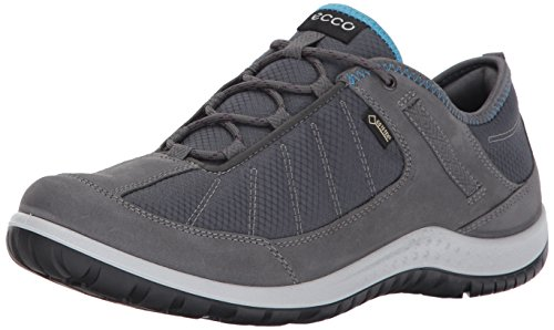 Image of ECCO Women's Aspina Low Gore-Tex Textile Hiking Shoe, Dark Shadow, 40 EU / 9-9.5 US