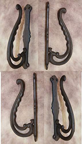 Southern Metal Old Fashion Drapery Holdbacks Cast Iron Vintage-Look, Set of 4 ()