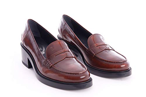 Brushed Loafers Leather Burgundy Womens Tod's nOqfSzB