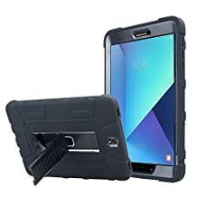 "VMOJO(TM) Hybrid Rubber Plastic Impact Defender Rugged Stand Case Kickstand Cover Shell For Samsung Galaxy Tab S3 9.7"" 9.7 Inch [BLACK/BLACK]"