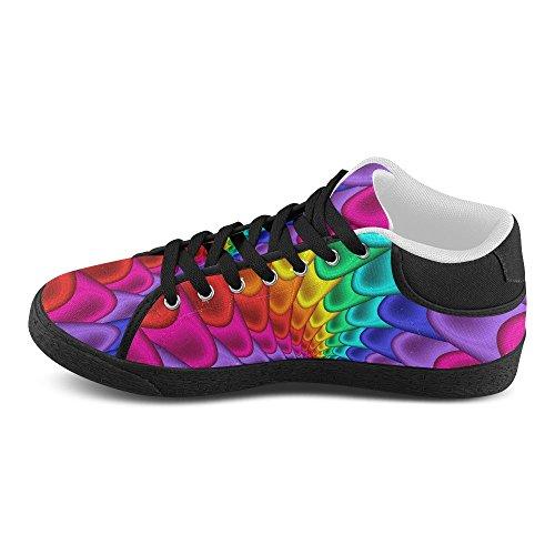 Artsadd Psychédélique Arc-en-spirale Chukka Toile Chaussures Pour Femmes (model003)