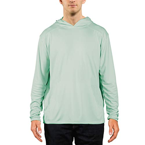 Seagrass Apparel - Vapor Apparel Men's UPF 50+ UV Sun Protection Performance Long Sleeve Hoody X-Small Seagrass