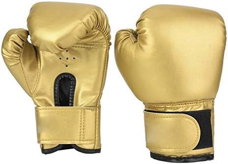 RDBH 1ペア子供ボクシンググローブキッズトレーニングファイティンググローブムエタイスパーリングパンチキックボクシング通気性PUフレイムグローブ (Color : Gold)