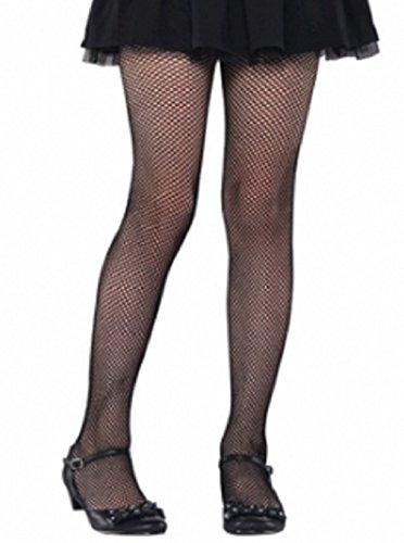 Black Fishnet Kids Tights - Child (Party City Girl Pirate Costume)