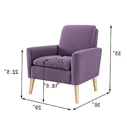 Amazon.com: Hebel Single Sofa Leisure Arm Chair Mid Century ...