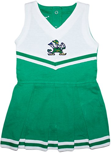 Creative Knitwear University of Notre Dame Fighting Irish Baby and Toddler Cheerleader Bodysuit Dress ()