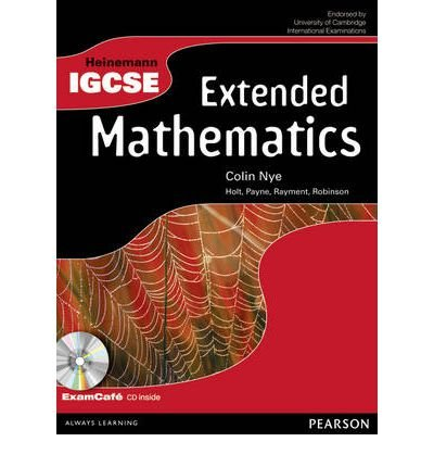 Download Heinemann IGCSE Extended Mathematics Student Book with Exam Cafe CD (Heinemann IGCSE) (Mixed media product) - Common pdf