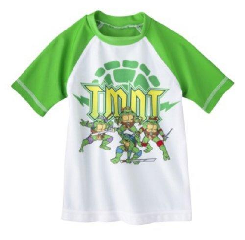 Nickelodeon Little Boys' Teenage Mutant Ninja Turtles Rashguard (Green, -