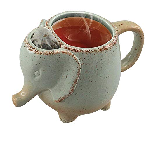 (Volar Ideas 15oz Elephant Tea Mug Green)