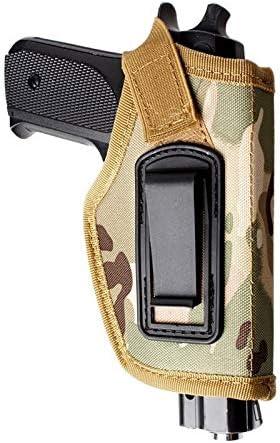 SHI-Y-M-QT, Funda de Pistola táctica Glock Revolver Funda de Pistola Airsoft Funda de Pistola Funda de Transporte Funda de Pierna de Caza Cinturones de Nylon Funda Cinturón Cinturón