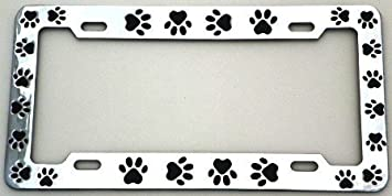 by Lpsusa License Plate Shop DF150CB Chrome Plated Metal Animal Paws License Plate Frame