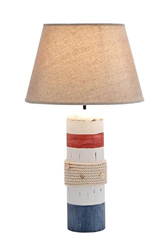 Shade Global Wood (Deco 79 28750 Wood Buoy Table lamp 24