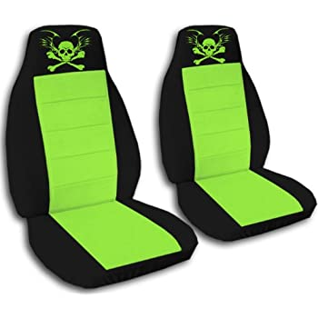 Amazon Com Black And Lime Green Seat Covers With A Lime