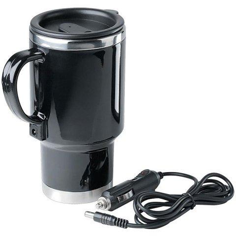 Emerson 14 oz. Stainless Steel Heated Auto Mug with 12V Car Power Adapter (Auto 14 Oz Mug)