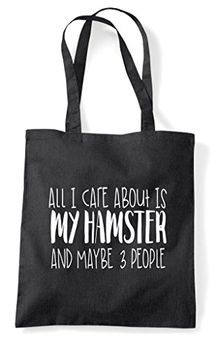 Funny Tote Black All And Care Hamster Animal Cute Themed People My Shopper About I Bag Three Maybe Is 1P6T1