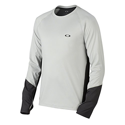 Oakley Warm Zone Ls Crew Light Grey XXL Mens - Warm Grey Oakley