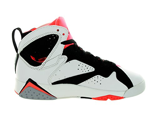 Nike Air Jordan 7 Retro Gg, Zapatillas de Running Para Niñas Blanco / Negro / Rojo (White / White-Black-Hot Lava)