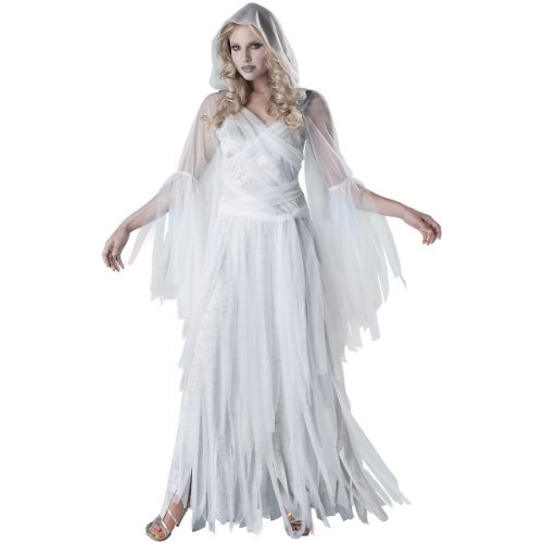 InCharacter Costumes  Women'sHaunting Beauty Ghost Costume, White/Grey, X-Large -