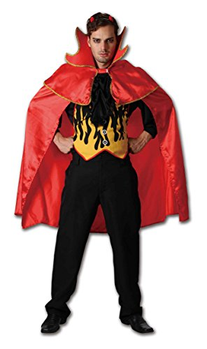 Adults Mens Ladies Red Hot Devil Costumes Onesize (Onesize, Red) -