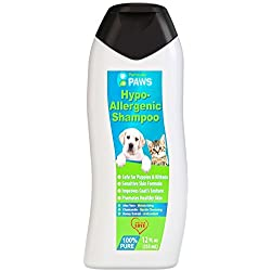 Hypoallergenic Dog and Cat Shampoo - All Natural with Aloe Vera, Chamomile & Rosemary for Sensitive and Young Skin - 12oz