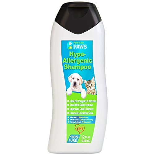Hypoallergenic-Dog-and-Cat-Shampoo-All-Natural-with-Aloe-Vera-Chamomile-Rosemary-for-Sensitive-and-Young-Skin-12oz