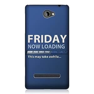 Head Case Designs - Carcasa para HTC Windows Phone 8S, diseño con texto en inglés, color azul