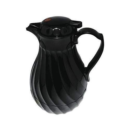 Coffee 64 Decanter Oz Black (Poly Lined Carafe, Swirl Design, 64oz Capacity, Black - HOR402264B)