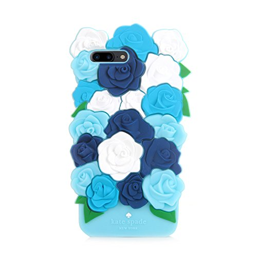 CASESOPHY Pretty 3D Rose Case for iPhone 7+ 7Plus / 8+ 8 Plus Large Size 5.5 Screen Soft Silicone Rubber Delicate Chic Cute High Fashion Premium for Girls Women Gift