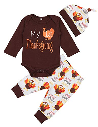 Thanksgiving Baby Outfits Newborn Boy Girl My First Thanksgiving