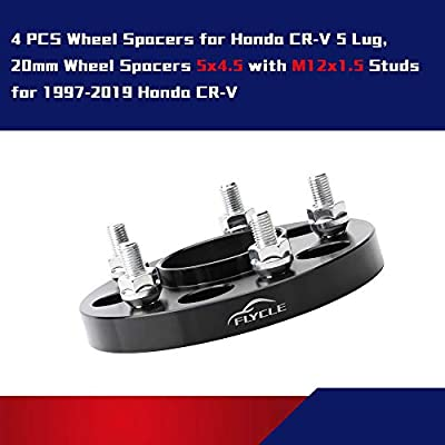 4 PCS 20mm 5x4.5 Hubcentric Wheel Spacer for 1997-2020 Honda CRV,5x114.3 Wheel Spacer for Acura RDX TLX CDX CSX ILX RSX TSX,Honda Element Civic HR-V CR-V with 64.1mm Center bore &12x1.5 Studs: Automotive