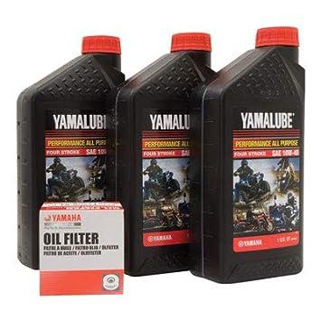 Yamalube Oil Change Kit 10w 40 Fits Yamaha V Star Deluxe Xvs1300 2013 2017