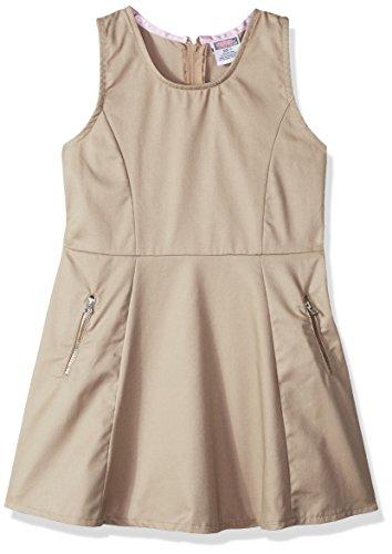 Genuine Girls' Dress Jumper (More Styles Available), Twill Khaki, 8