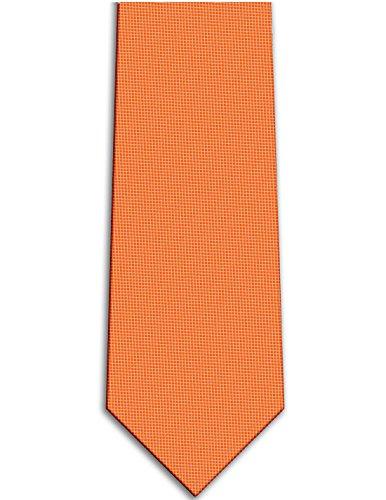 KissTies Pumpkin Orange Tie Solid Necktie Wedding Ties + Gift Box ()