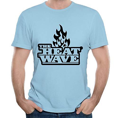 - ZHIJIANSHIGONG Men's The Heatwave Logo Classic Tennis SkyBlue T-Shirts XL Short Sleeve