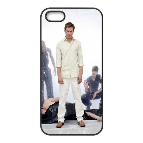 901 Dexter Morgan L coque iPhone 5 5S cellulaire cas coque de téléphone cas téléphone cellulaire noir couvercle EOKXLLNCD21103