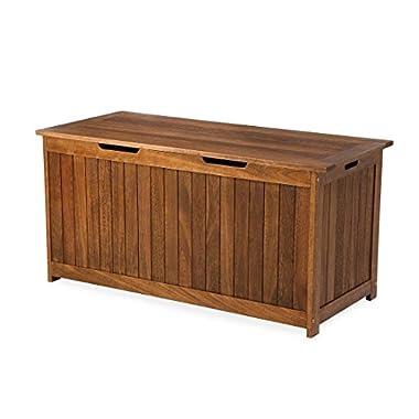Eucalyptus Wood Storage Box, Lancaster Outdoor Furniture Collection