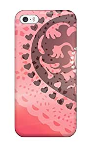 Excellent Iphone 5/5s Case Tpu Cover Back Skin Protector Fractal Love 8976667K56586429
