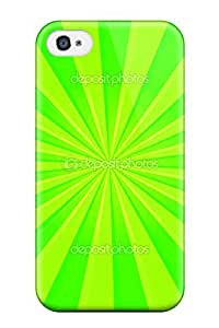 For Apple Iphone 5C Case Cover Slim Bright Green Stripes Case Cover