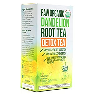 Infusion de racine de Pissenlit – Non-torréfié et Riche en Vitamines – 1 boîte (20 sachets de 2g) – Boisson Détox…